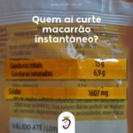 Macarrão instantâneo Rápido de preparar, com diversas opções de sabores e muito prejudicial a saúde!